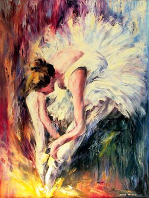 Leonid Afremov, 'Seated Dancer', 2001, RoGallery