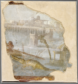 'Fresco Fragment with Nilotic Landscape',  about 70, J. Paul Getty Museum