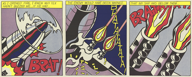 Roy Lichtenstein, 'As I Opened Fire (Triptych)', 1997, ArtWise