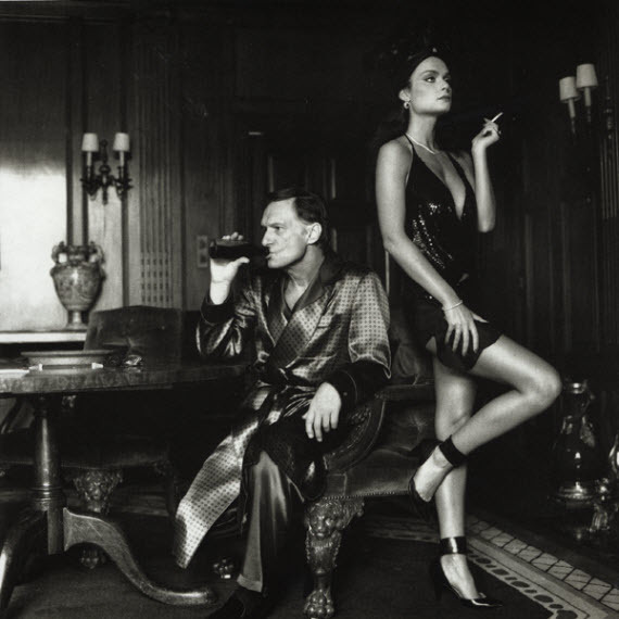 , 'Hugh Hefner and Carrie Leigh,' 1984, Hal Bromm