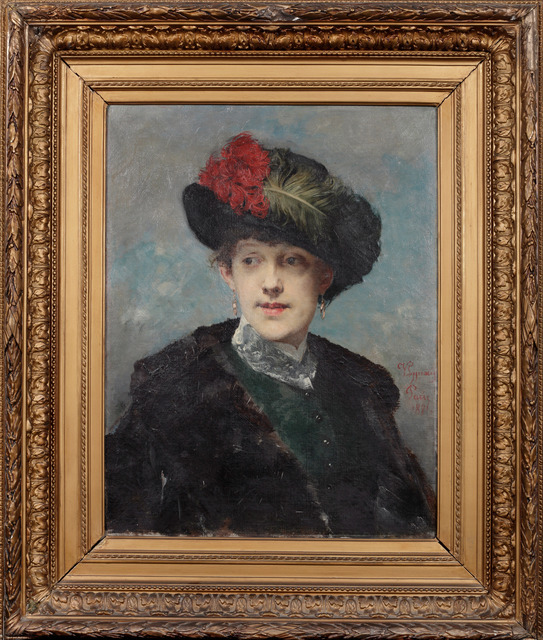 , 'Portrait of Lady in Hat,' 1881, Adolf Loos Apartment and Gallery