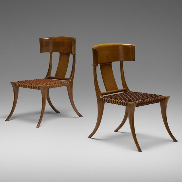 T.H. Robsjohn-Gibbings, 'Klismos chairs, pair', 1961, Wright
