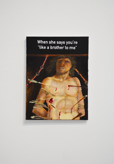 , 'When She Says: You're Like Brother To Me,' 2018, SGR Galería