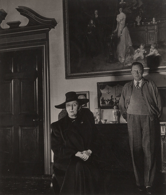 Bill Brandt, 'Edith and Osbert Sitwell, Beneath the Family by Sargent, Renishaw Hall, Derbyshire', 1945, Doyle