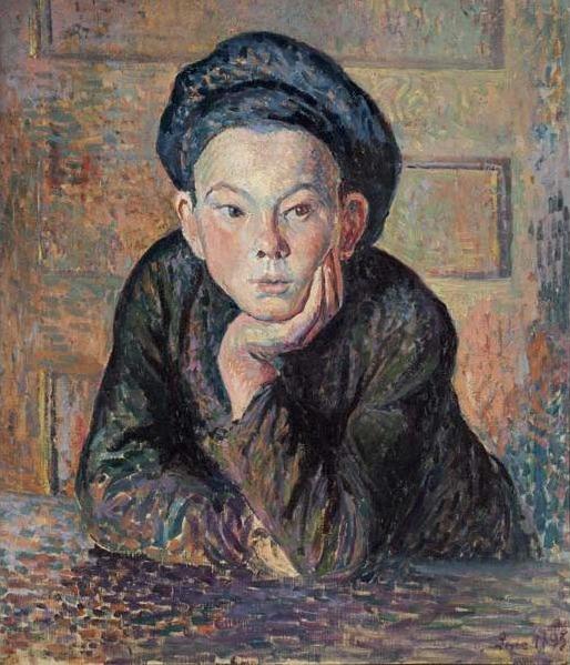 Maximilien Luce, 'Portrait of a Boy', 1895, Davis Museum