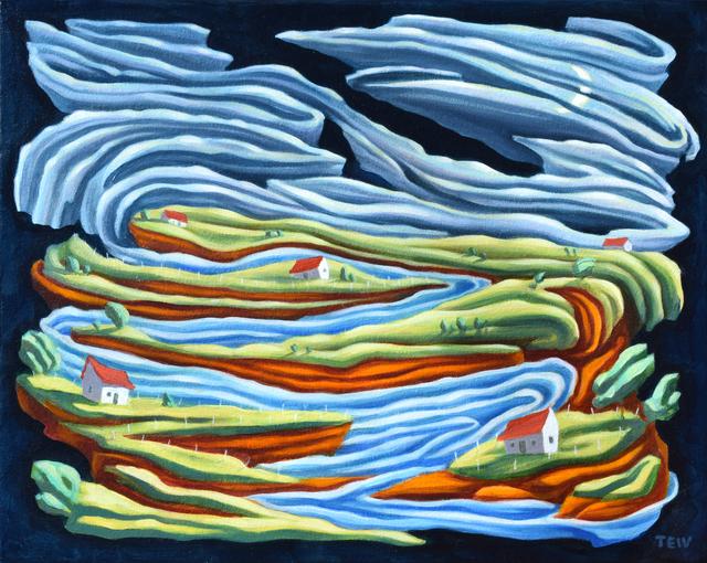 Jono Tew, 'Riverside Village ', Modernist Frontier