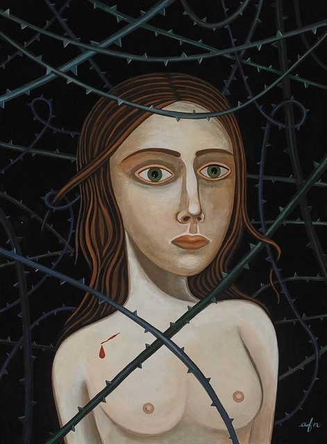 Anne Faith Nicholls, 'Through the Thorns', 2017, Painting, Acrylic on canvas, Martin Lawrence Galleries