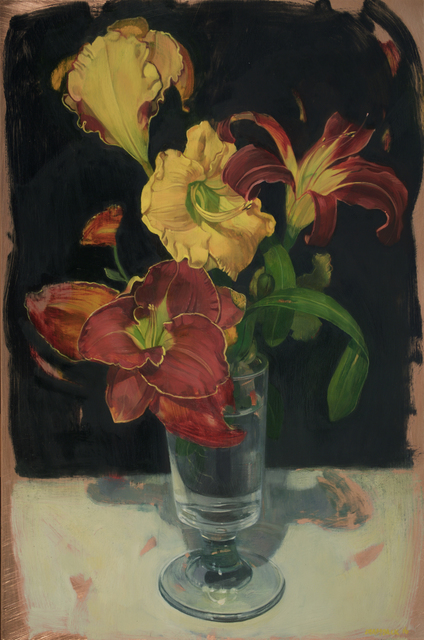 , 'Day Lily Bouquet in Footed Glass,' 2016, LeMieux Galleries