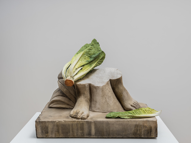 Tony Matelli, 'Feet (Romaine)', 2019, Sculpture, Concrete, painted bronze, Andréhn-Schiptjenko