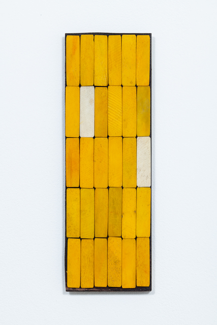 Luis Romero, 'Amarillo/Blanco', 2019, Painting, Dyed bones on wood, Kupfer