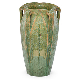 Five-handled vase with leaves, Boston, MA
