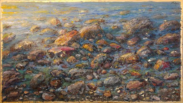 , 'Detail from Mediterranean Shore,' 2017, Galerie d'Orsay