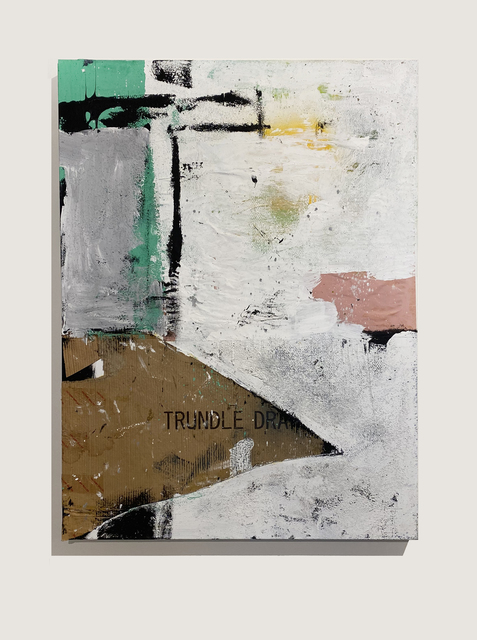 Stephen Lapthisophon, 'Slant', 2020, Painting, Collage, house paint, coffee, spray paint & ink on canvas, Conduit Gallery