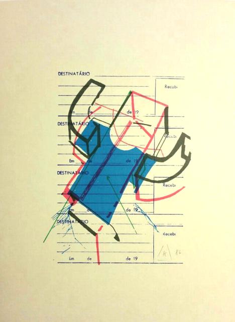 , '23 Four-color Suggestions for the Improvement of the Backstroke Swimmer. (23 Vierfarbenvorschlaege für die Modernisierung des Rueckenschwimmers),' 1986, Gallery AM MEER