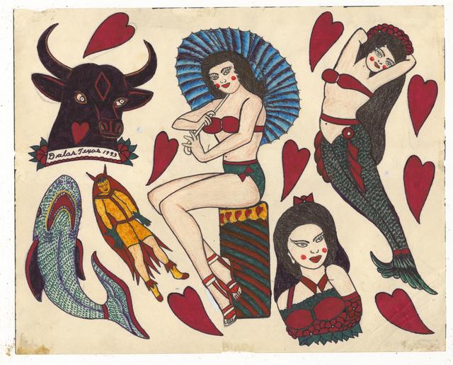 , 'Untitled (Mermaid Pinup Bull Head),' ca. 1950, Ricco/Maresca Gallery