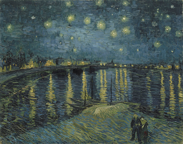 , 'Starry Night over the Rhône,' 1888, Van Gogh Museum