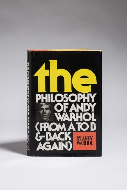 , 'The Philosophy of Andy Warhol (From A to B and Back Again),' 1975, Fólio Livraria