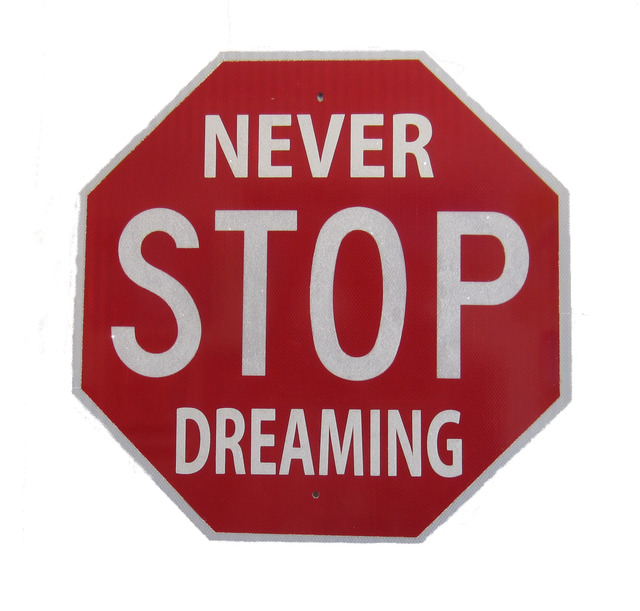 """, '""""Never Stop Dreaming"""" – Acrylic and Crystal on Metal,' 2018, Wallspace"""