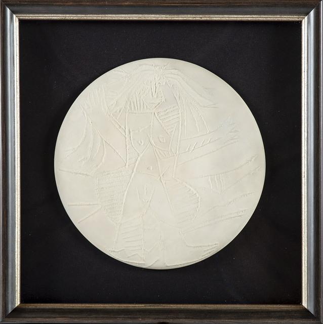 Pablo Picasso, 'Femme Echevelee (Dishevelled Woman) Unglazed white earthenware plate', 1963, Modern Artifact