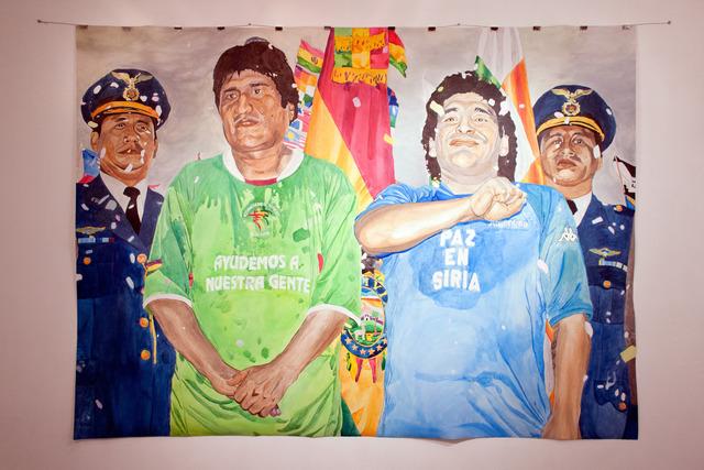 , 'Ayudemos a nuestra gente,' 2013, No Lugar Arte Contemporáneo