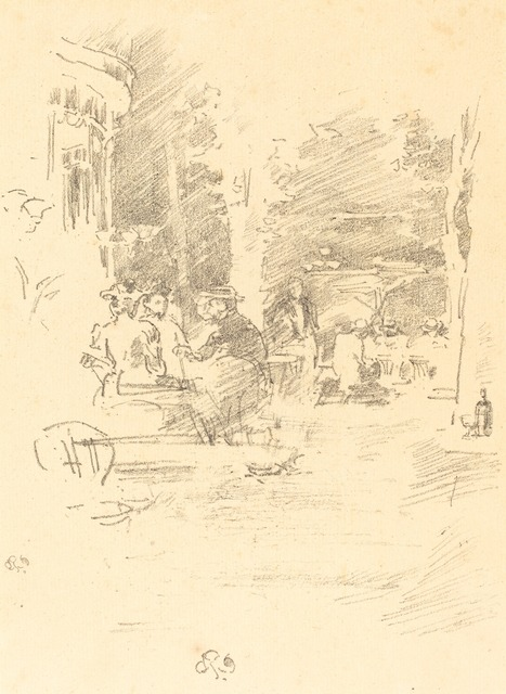 James Abbott McNeill Whistler, 'The Little Cafe au Bois', 1894, National Gallery of Art, Washington, D.C.
