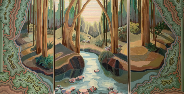 April Dawn Parker, 'I Was a Hidden Treasure (triptych) ', 2019, Painting, Oil on Linen, Andra Norris Gallery