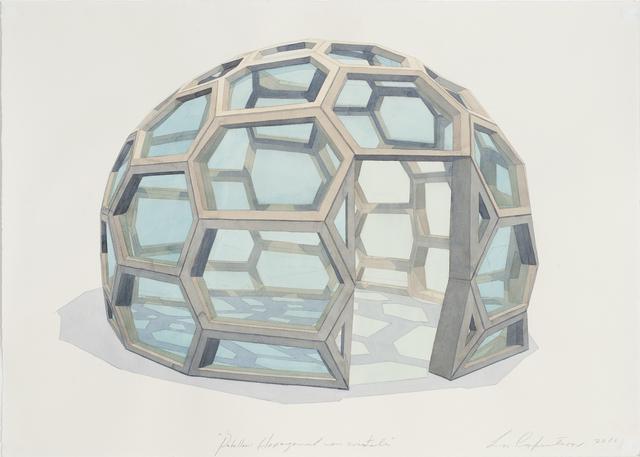 , 'Pabellón hexagonal con cristales,' 2016, Galerie Peter Kilchmann