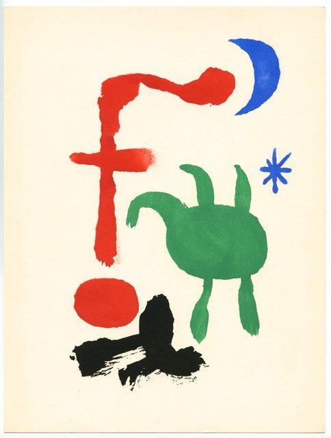 Joan Miró, 'Femme et Oiseaux dans la Nuit', 1947, Artsnap
