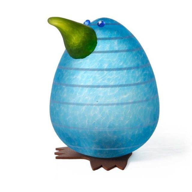 Borowski Glass, 'Kiwi Egg Paperweight: 24-02-92 in Blue', ca. 2018, Art Leaders Gallery