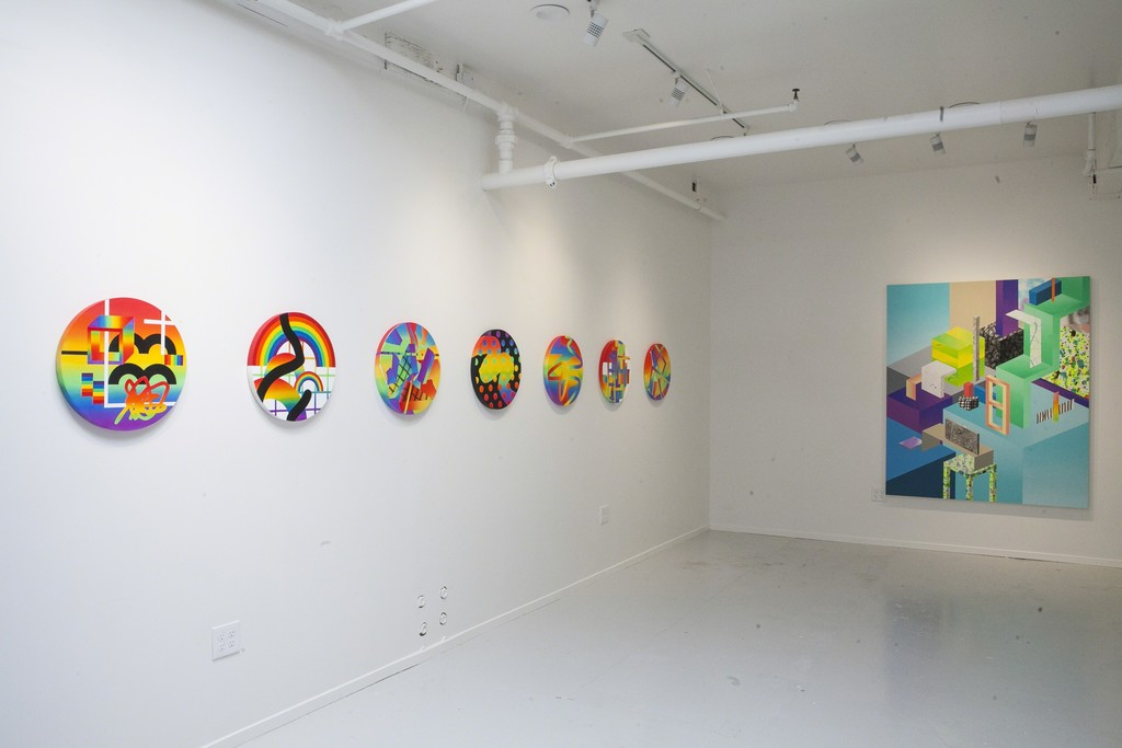 "Installation view of ""Simpler Times"" by Clark Goolsby"