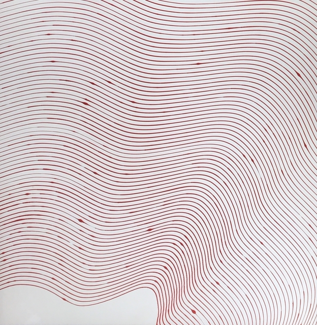 , 'White with Red,' 2018, J GO Gallery