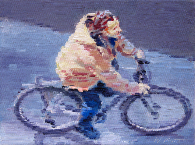 , 'Riding a Bicycle in Paris,' 2016, ViVO Contemporary