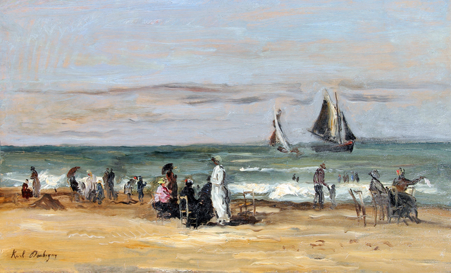 Karl Pierre Daubigny, 'La Plage de Trouville', Mark Murray Fine Paintings