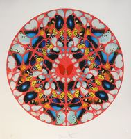 Damien Hirst, Psalm print, domine ne in fuore (diamond dust)