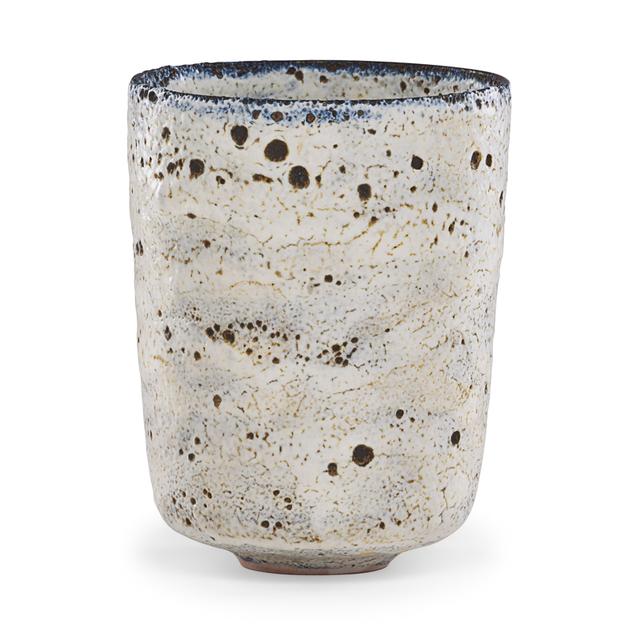Gertrud Natzler, 'Fine straight-walled vessel, volcanic glaze, Los Angeles, CA', Rago