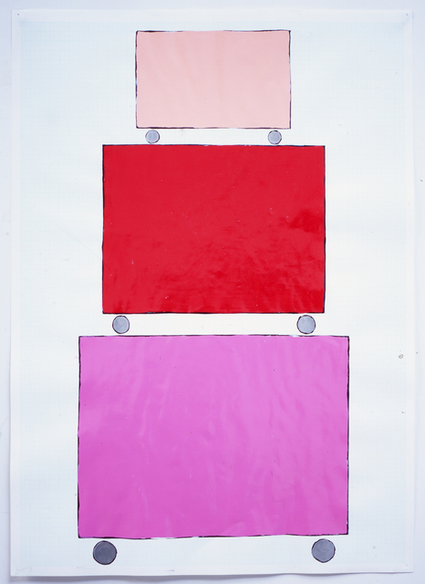 David Batchelor, 'Three Dollies - Stacked (pink)', 1999, Ingleby Gallery