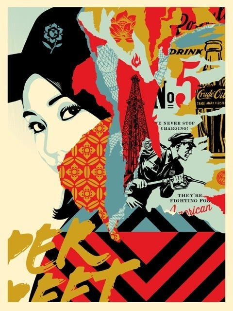 Shepard Fairey, 'Drink Crude Oil', 2017, Art for ACLU Benefit Auction