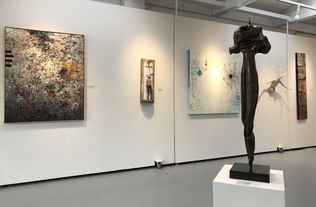 Charles Eckart, Cathy Rose, Leslie Allen & Nancy Legge in Gallery I