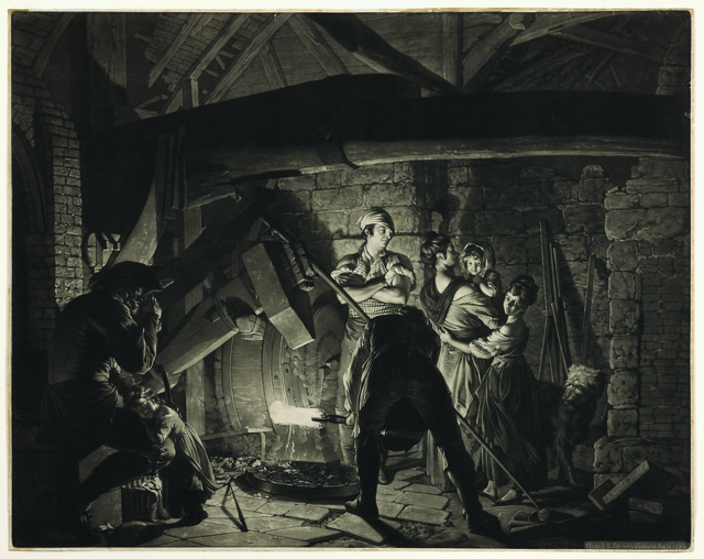 , 'An Iron Forge (The Drop Forge), after Joseph Wright of Derby,' 1772-1773, Hill-Stone, Inc.