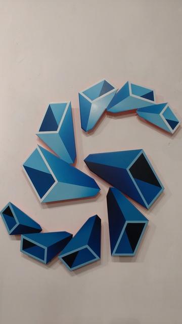 , 'Blue sculpture,' 2018, Galería Marita Segovia