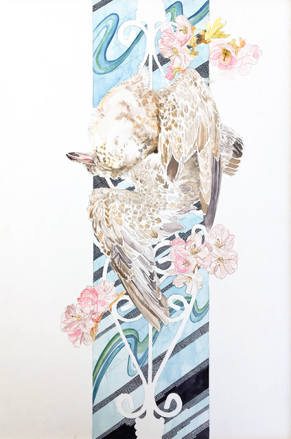 , 'Seagull and Cherry Blossoms,' 2017, Ghostprint Gallery