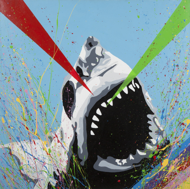 CANTSTOPGOODBOY, 'Shark Attack', 2012, Painting, Acrylic on canvas, Julien's Auctions