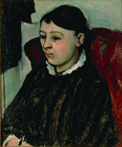"Paul CÉZANNE ""Mrs. Cézanne in a Striped Dress (Madame Cézanne en robe rayée)"" 1883-85 Yokohama Museum of Art"