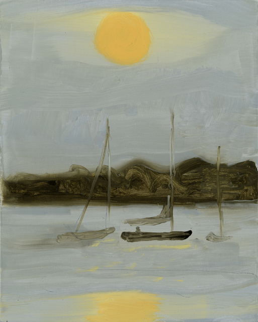 , '3 Boats and Sun,' 2015, Sears-Peyton Gallery