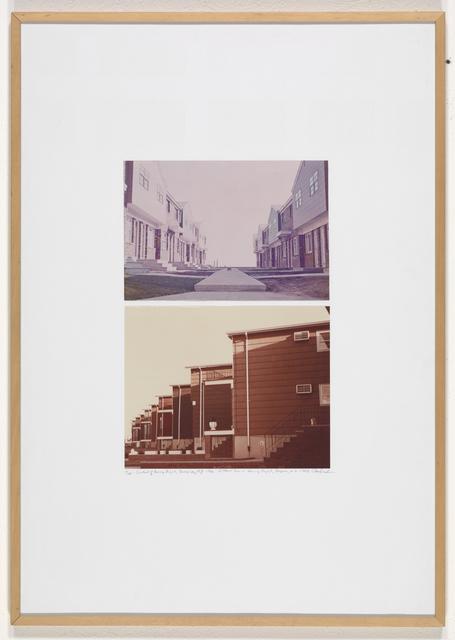 Dan Graham, 'Courtyard of Housing Project, Jersey City, N.J., Row in Housing Project, Bayonne, N.J.', 1966, Mai 36 Galerie