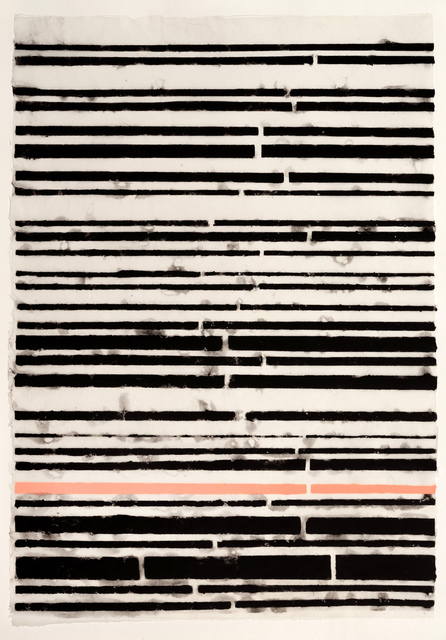 , 'Blacks and Pink Stripe,' 2015, Callan Contemporary