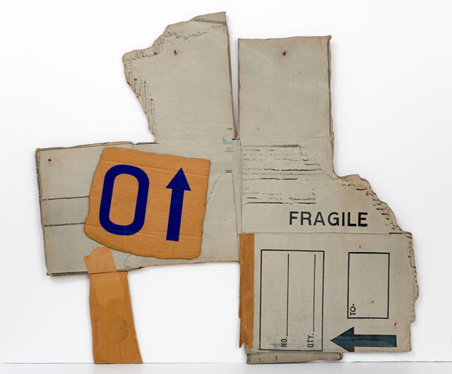 Robert Rauschenberg, 'Cardbird Series, Cardbird VI', 1971, Mixed Media, Photolithograph and screenprint on corrugated cardboard with tape additions, Iris Project