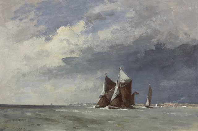 , 'Thames Barges Off Landguard Point,' , Portland Gallery