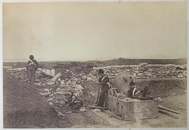 , 'A Quiet Day on the Mortar Battery.,' ca. 23 April 1855, Roland Belgrave Vintage Photography Ltd