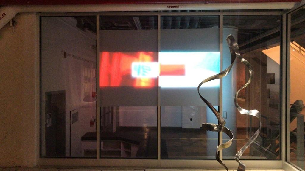 Jacques Jarrige Waves sculpture and Garret Linn video installation